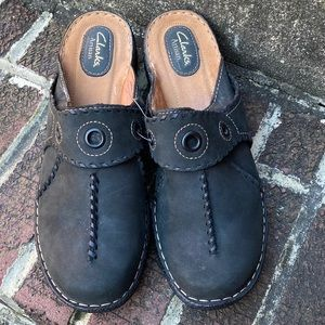 Clark's Artisan Leather Slip On Clog Style Shoes